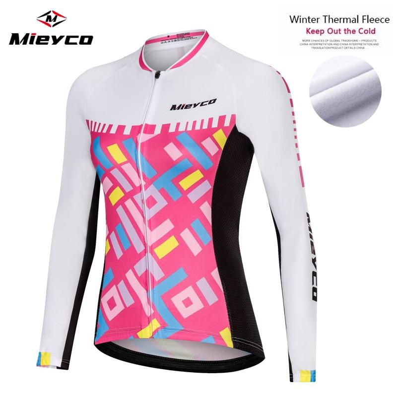 Jersey de ciclismo para mujer, manga larga, de invierno, Polar térmico, maillot, ciclismo mtb, bicicleta Pro, camisa de ciclismo para mujer, ciclista México, Jersey