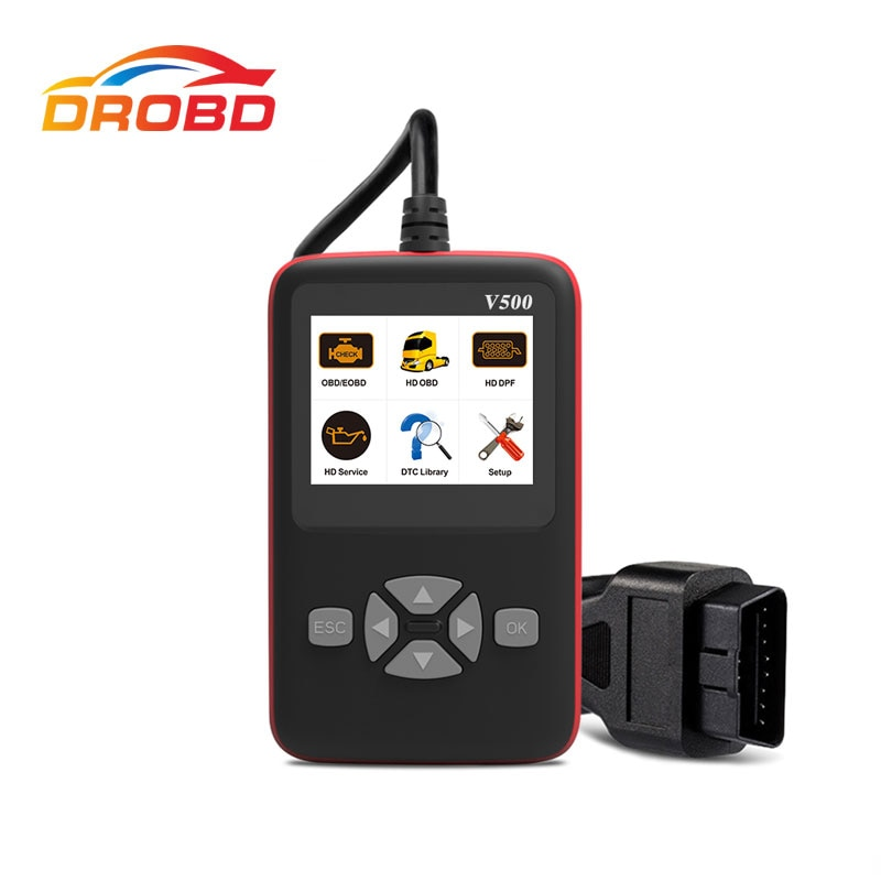 V500 OBD OBD2 Diagnostic Scanner for Car Truck Heavy Duty Auto Code Reader DPF Oil Reset CR-HD Diagnostic Tool PK NL102P