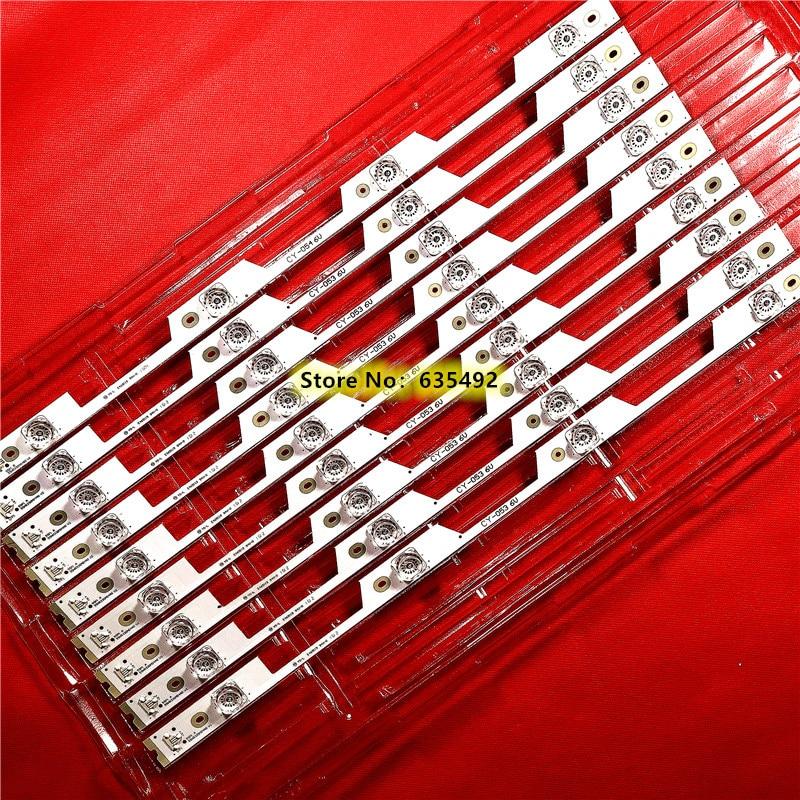 9 Uds para TCL B55A739 L55P1-UD L55P1S-CF de retroiluminación LED 4 lámparas 4C-LB5504-HR3 HR4 55HR330M04A2 V0