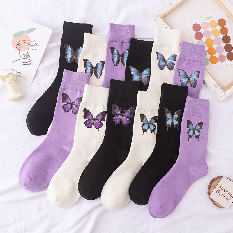 hot soft cute simulation dinosaur Hot Sale 2021 new fashion Korean style ladies socks simulation printing butterfly socks cute embroidered dinosaur socks