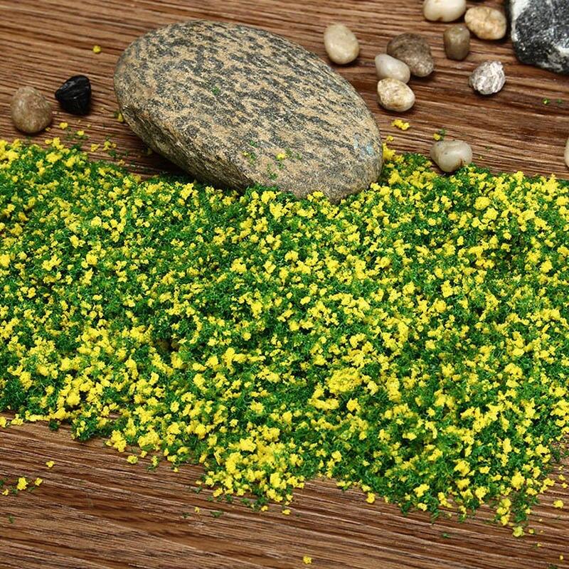 30g DIY hecho a mano material para modelo de construcción hierba árbol esponja polvo mezcla verde polen