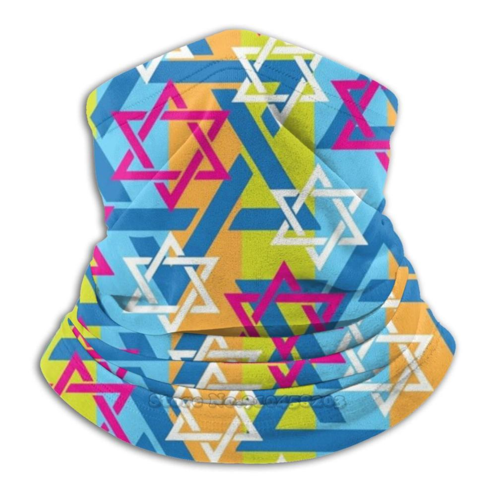 Star Of David Jewish Face Mask Cycling Motorcycle Headwear Washable Scarf Neck Warmer Face Mask Star Of David Colorful Jewish
