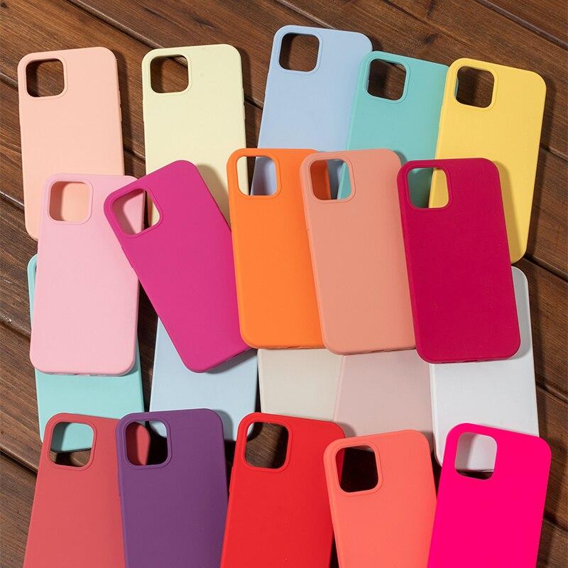 Funda de silicona oficial para iPhone carcasa de lujo Original para iPhone...