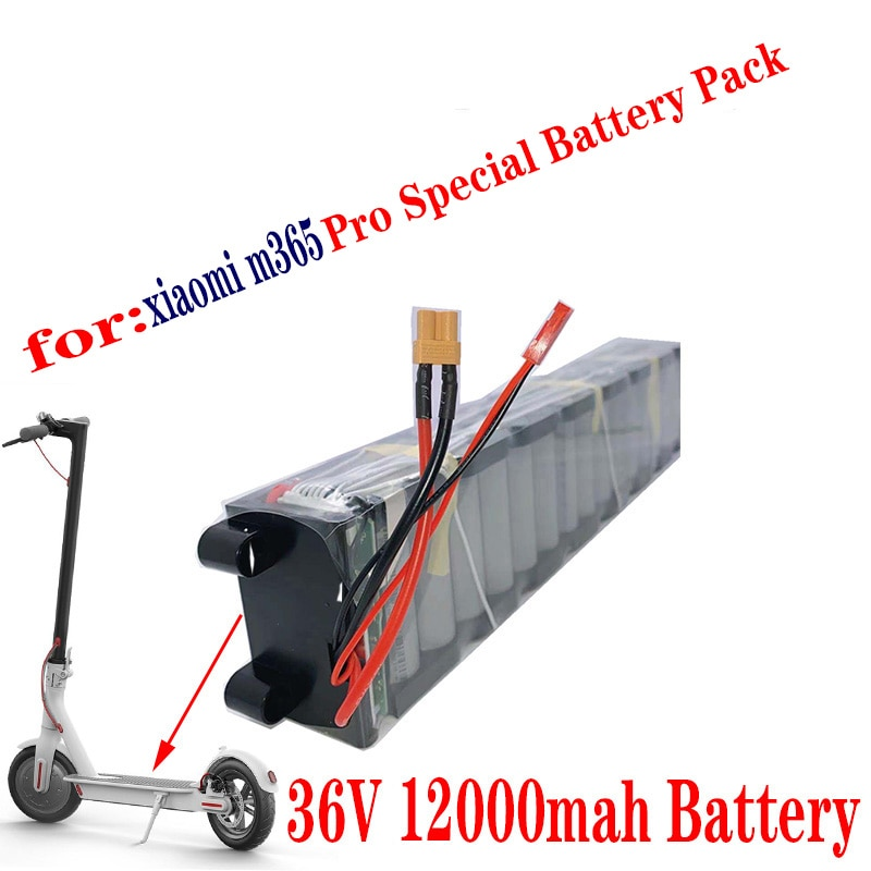 مناسبة ل شاومي Mijia M365 سكوتر الكهربائية ، 36 فولت ، 12Ah ، 18650 SC بطارية ليثيوم ، مع الاتصالات بلوتوث مقاوم للماء