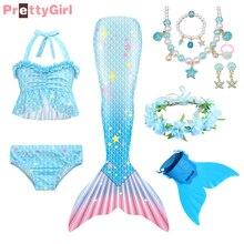 ชุด2021 Mermaid หาง Monofin Flipper Mermaid คอสเพลย์บิกินี่ชุดว่ายน้ำหญิงชุด