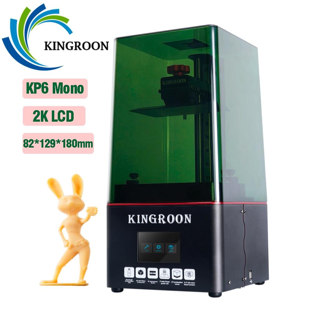 KINGROON KP6 моно ЖК 3D принтер уф смолы принтеры с 6,08 дюймовым монохромным экраном 2K 3D печать высокоскоростной SLA 3D принтер
