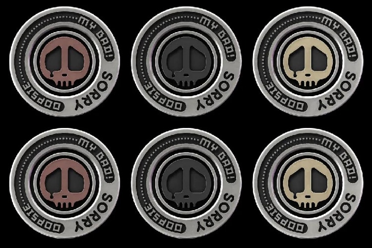 LAUTIE Sorry Chip Coin (forgiveness Coin) A Set Of Six: The Hate Project X Lautie