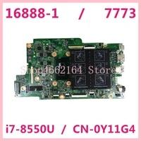 mainboard for dell inspiron 7773 i7 8550u laptop motherboard cn 0y11g4 0y11g4 16888 1 sr3lc ddr4 tested ok
