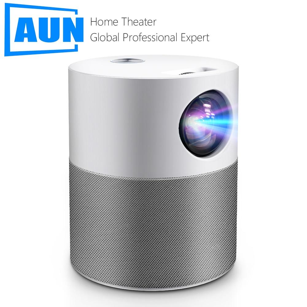 جهاز عرض بروجيكتور صغير AUN ET40 بدقة HD 1080P, يدعم نظام أندرويد 9 عارض فيديو جهاز عرض (بروجكتور) ليد ، 4k ، يمكن استخدامه للمسرح المنزلي والسينما