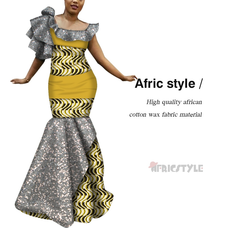 vefadisa plus size long dress graffiti print women dress 2020 lace patchwork summer asymmetrical dress white black qyf2690 2020 Summer Patchwork Asymmetrical Long Dress Bazin Riche African Print Dresses for Women Traditional African WY6547