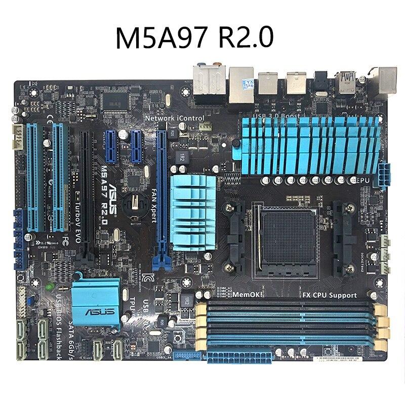 ASUS M5A97 R2.0 اللوحة المقبس AM3 + DDR3 USB2.0 USB3.0 32GB 970 سطح اللوحة
