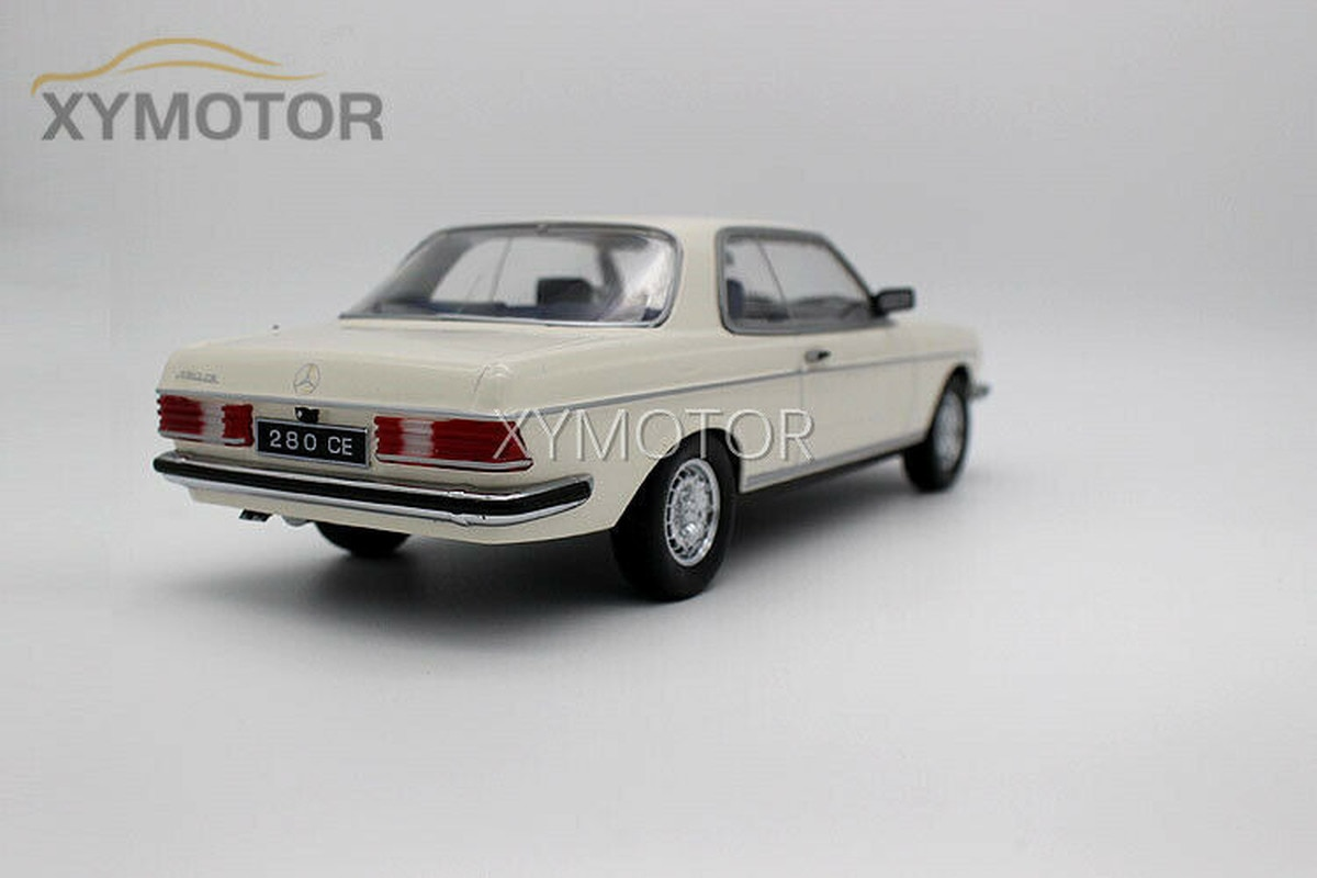 New 1:18 For Mercedes Benz 280CE W123 Diecast Car Model Toys Boys Gifts Collection White/Blue Metal,Plastic,Rubber