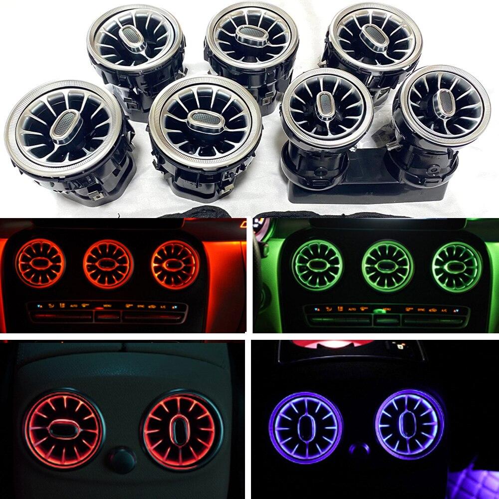 LED سيارة فوهة مصباح لبنز A/C/E/S/V/CLA/GLA/GLC الفئة W176 W205 W213 W222 W447 W117 W156 X253 الهواء تنفيس التوربينات المحيطة الخفيفة