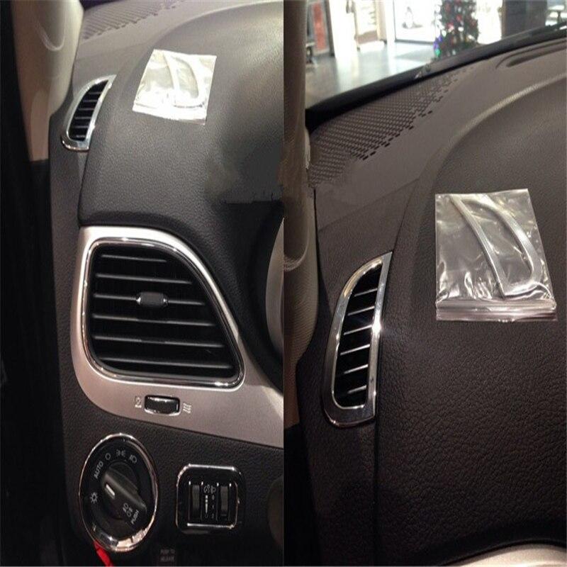 WELKINRY, cubierta de coche para Fiat Freemont para Dodge JC Journey 2013-2016, consola cromada ABS, salida de ventilación de aire, embellecedor de interruptor de faro