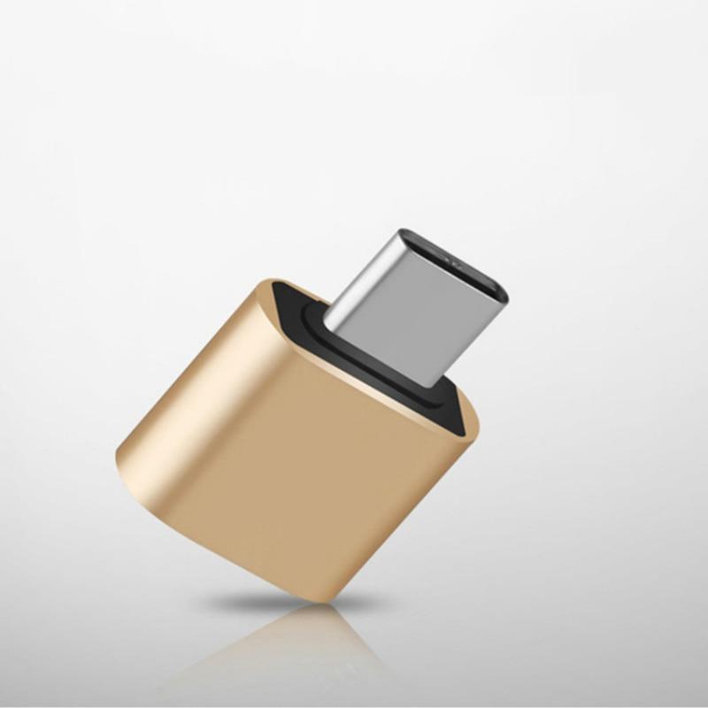 Adaptador OTG Android tipo C USB 2,0 adaptador de aleación de aluminio para teléfono móvil U convertidor de disco de color al azar