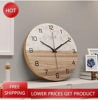 nordic marble wall clock unique kitchen european waterproof minimalist luxury living room non ticking watches horloge wall decor