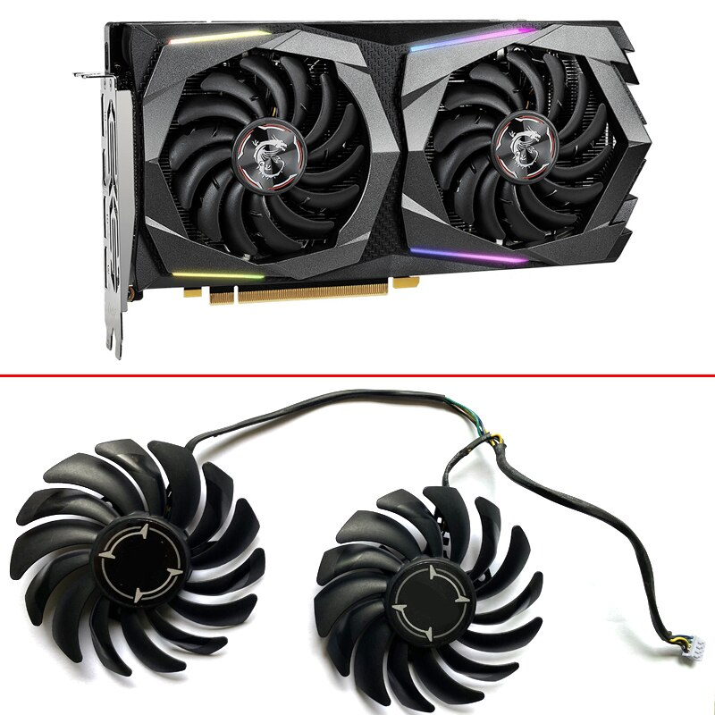 2pcs NEW PLD09210B12HH 85MM 4PIN GTX1660TI ETH Cooling Fans For MSI GeForce GTX 1660 SUPER GAMING GTX 1650 4G Video Card Fan