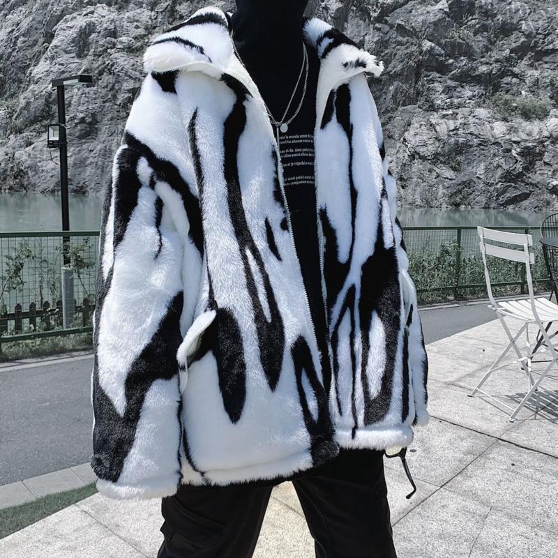 Зимняя мужская теплая Модная ретро повседневная короткая куртка Мужская парка уличная одежда дикие свободные толстые куртки мужская одежд...