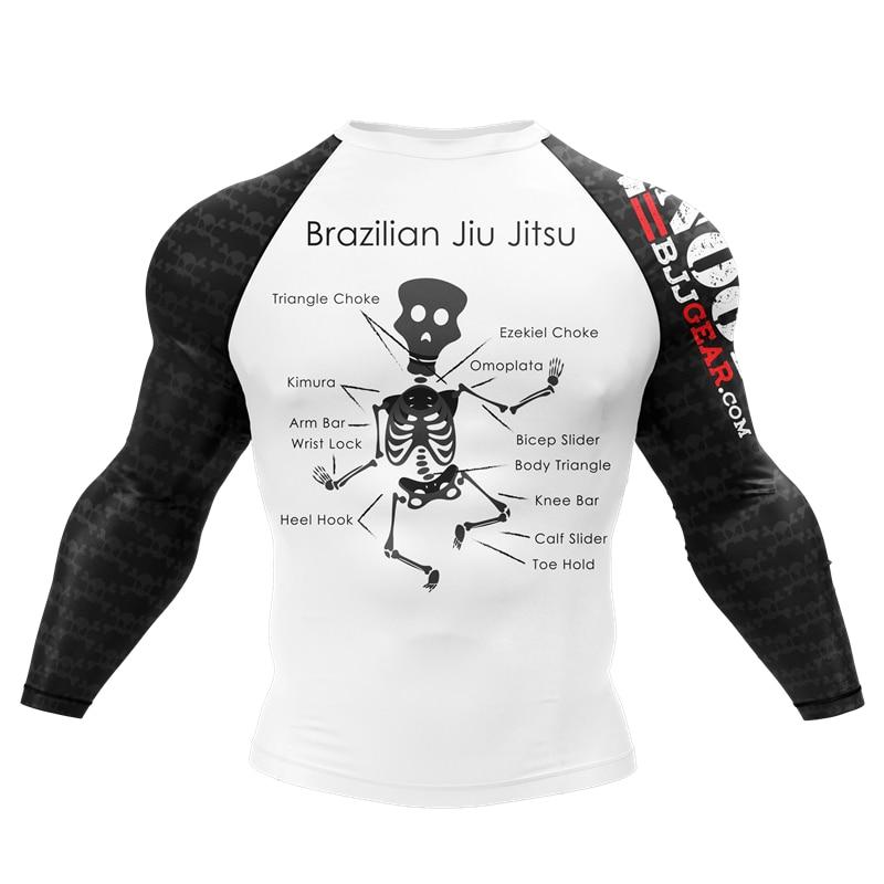 Sublimated Printing Men Summer Fitness BJJ Jiu Jitsu MMA Sports Tee Tops Casual Slim Fit Cat Tshirt