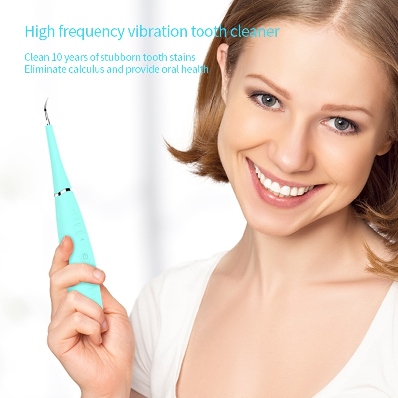 Electric Teeth Whitening Cleaning device rechargeable dental flosser Waterproof Electric tooth cleaner calculus remover enlarge