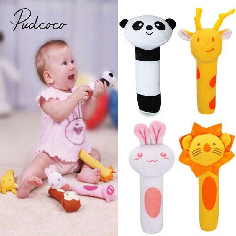 Детские Классические игрушки, колокольчики с животными, погремушки, умные развивающие колокольчики для кровати, детские мягкие игрушки, по...