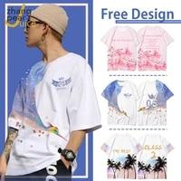 o neck customized print t shirt art shirt diy photo logo shirt men womens top tees t shirt mens women shirt couple wear gift