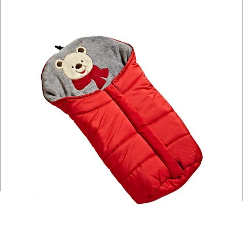 конверт в коляску зима для новорожденных муфта для коляски Зимний флисовый спальный мешок для детской коляски 0-6 м муфта для коляски