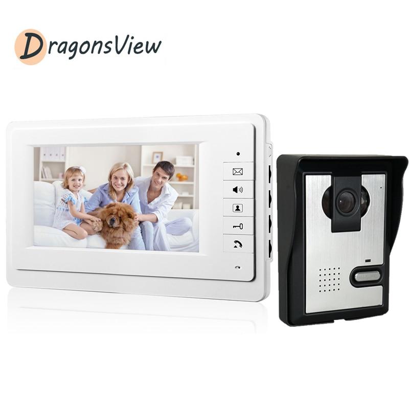 Dragonsview 7 بوصة مراقبة داخلية للفيديو باب الهاتف نظام اتصال داخلي