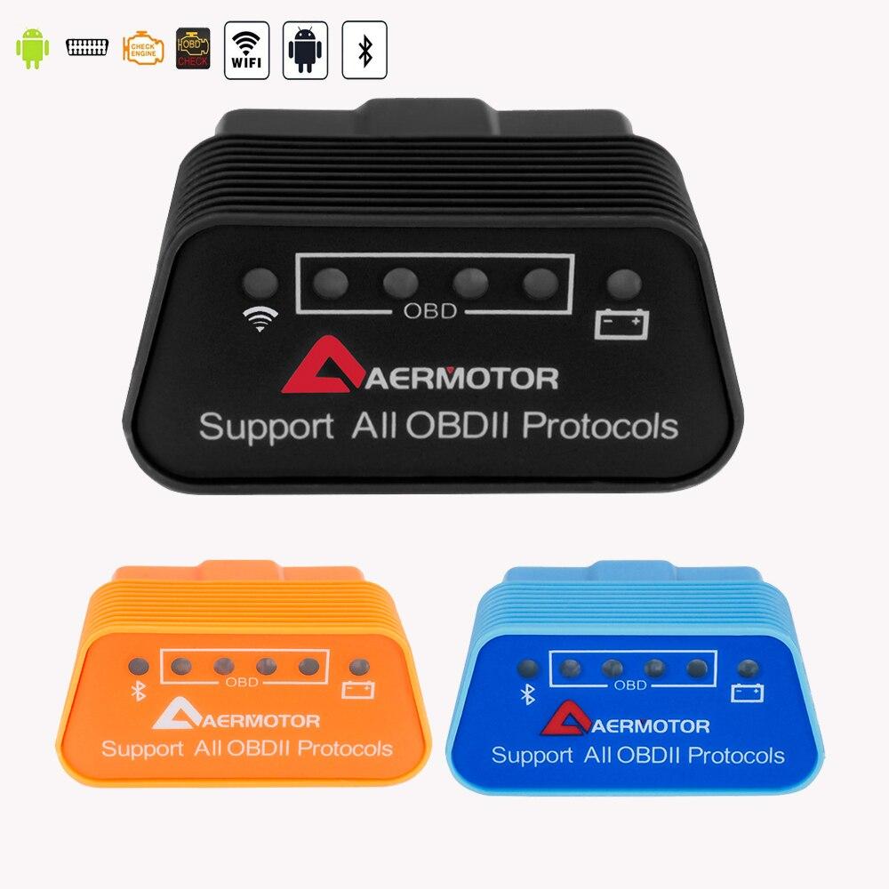 Bluetooth/Wifi Super Mini OBD 2 para Chrysler 200/2011/300c Sebring Pacifica de diagnóstico escáner ELM 327 V1.5 Auto OBDII