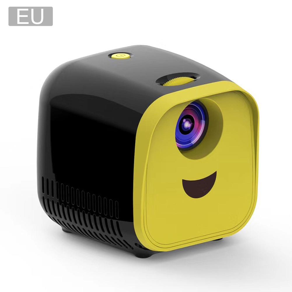 "L1 Mini proyector reproductor de películas Full HD 1080P 80 ""LED de cine en casa Video proyector HDMI con Cable USB TF TV portátil de juegos negro"