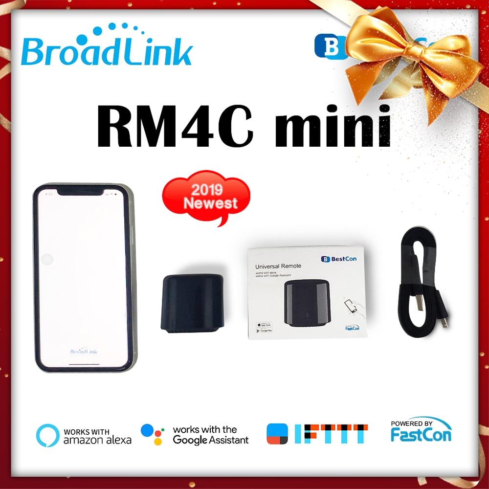 Broadlink RM4C Pro + RM4C Mini control remoto inteligente 4G WiFi IR RF trabajo con Alexa Google Home Mini domótica inteligente