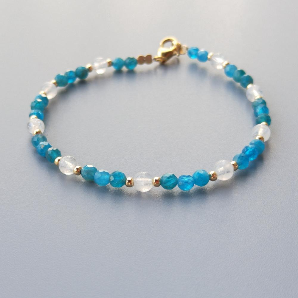 Lii Ji Genuine Natural Blue Iolite Ethiopia Fire Opal Bracelet Us 9k Gf Delicate Bracelet For Women Girl Children Jewelry Aliexpress Com Imall Com