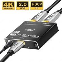 Répartiteur HDMI 1 en 2 sortie adaptateur audio extracteur convertisseur vidéo pour PS4/3 TV sélecteur boîtier multimédia répartiteur HDMI commutateur 4K