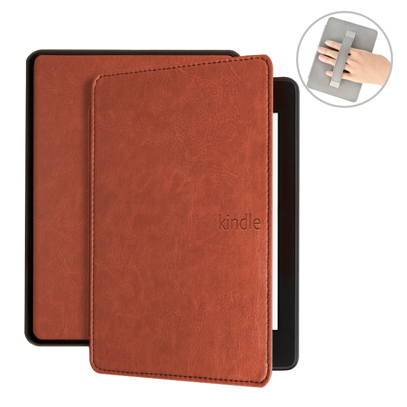 Case for Kindle Paperwhite 4 2018, Luxury PU Leather Cover for Kindle Paperwhite Case 10th Generation with Hand Holder Funda недорого