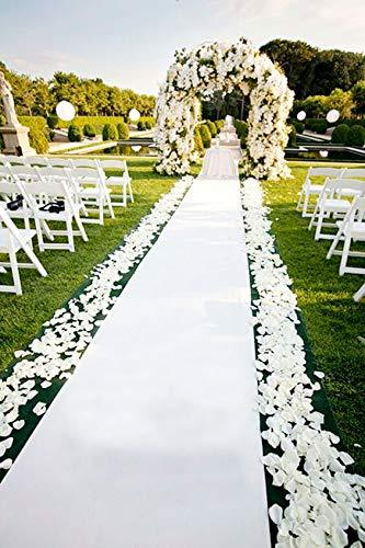 3M 5M 10M White Carpet Wedding Aisle Runner White Red Aisle Runner Rug Runner indoor Outdoor Weddings Party Thickness:0.8 mm 2