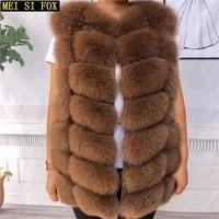 natural fur fur vest fox fur vest real fur coat slim slim 70cm real fur vest womens warm vest womens winter jackets sleeveless