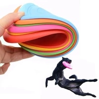 funny silicone flying saucer dog cat toy dog game soft pet flying discs resistant chew puppy training interactive dog supplies