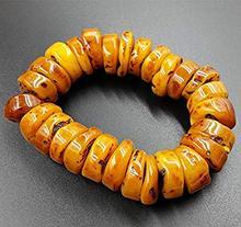 Bracelets de perles de cire dabeille naturelle mer baltique bas hommes femmes Bracelet ambre cire Bracelets de pierre brute Bracelet de noël