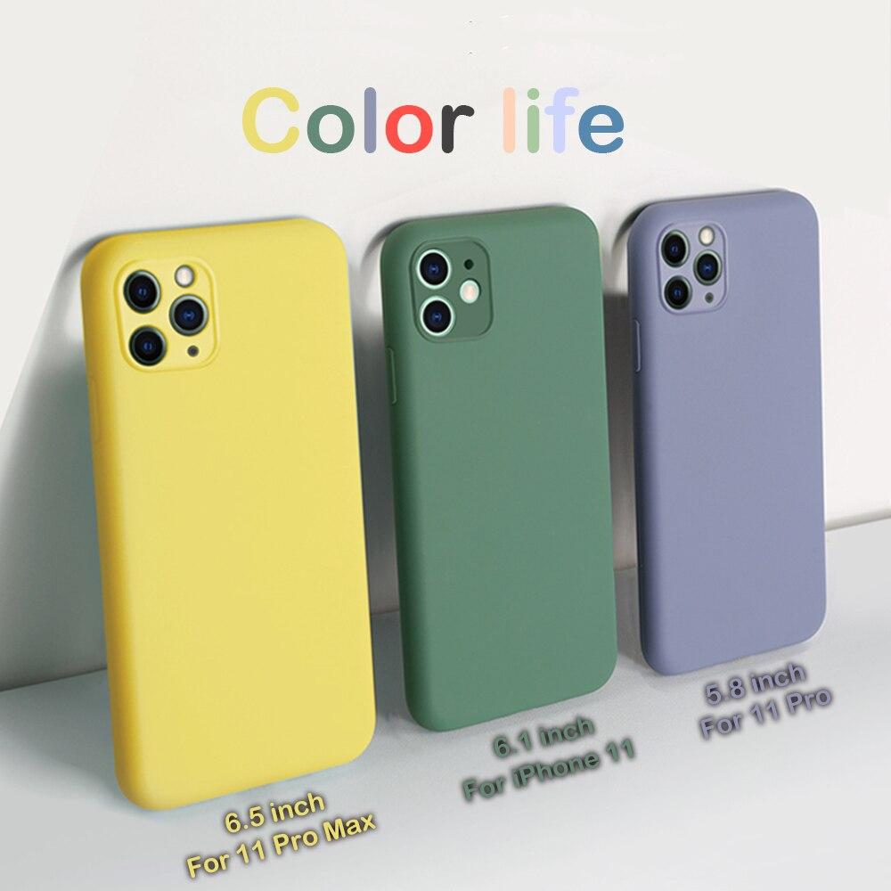 Carcasa de silicona TPU multicolor para iPhone 11 Pro Max, carcasa para iPhone 11, novedad de 2019, funda para iPhone 11 Pro