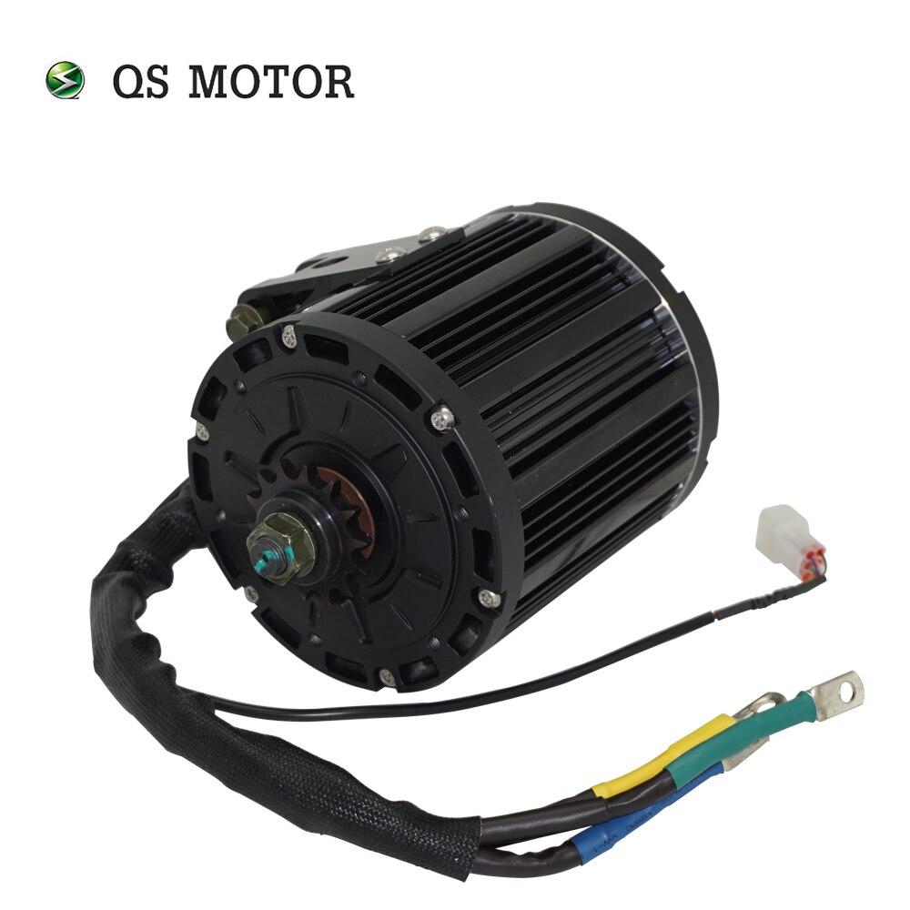 QSMOTOR-مجموعة محركات الدراجات النارية الكهربائية QS138 ، 4000W ، 90H ، 7500W ، 72V ، 100KPH ، IPM ، PMSM