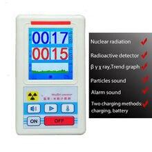 Geiger compteur détecteur de rayonnement nucléaire dosimètre personnel rayons X bêta Gamma détecteur LCD testeur radioactif outil de marbre