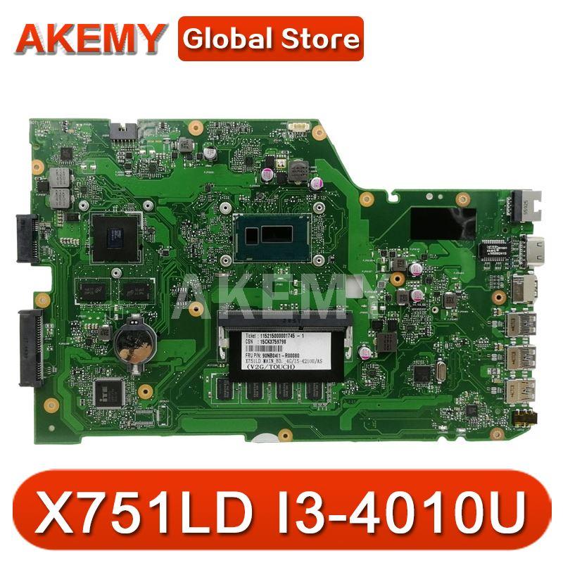 X751LD لـ ASUS X751LN X751LK X751LD اللوحة الأم للكمبيوتر المحمول I3-4010U وحدة المعالجة المركزية 4 جيجابايت RAM مع GT820M اللوحة الرئيسية اختبار جيد