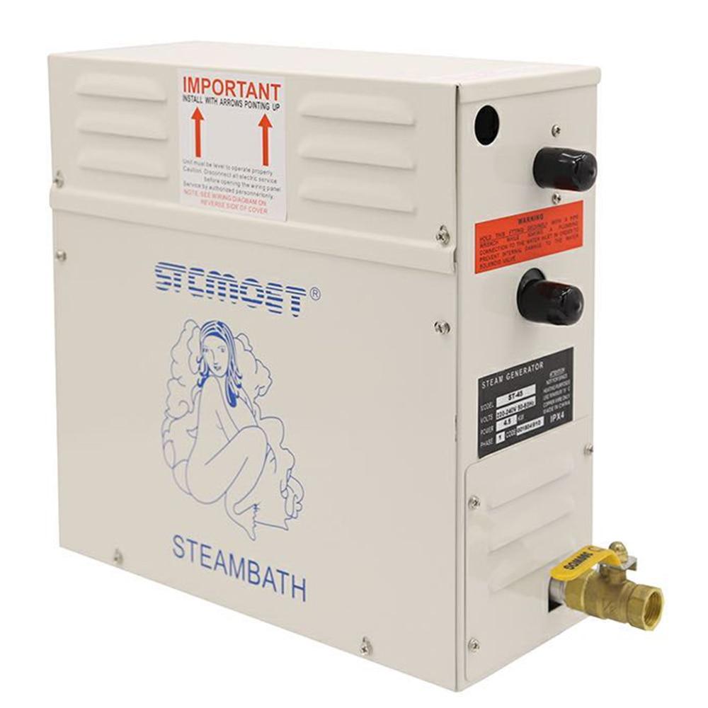 3KW/4.5KW مولد بخار بخار ساونا آلة حمّام للمنزل ساونا غرفة سبا تبخير آلة 220V/380V مع جهاز تحكم رقمي