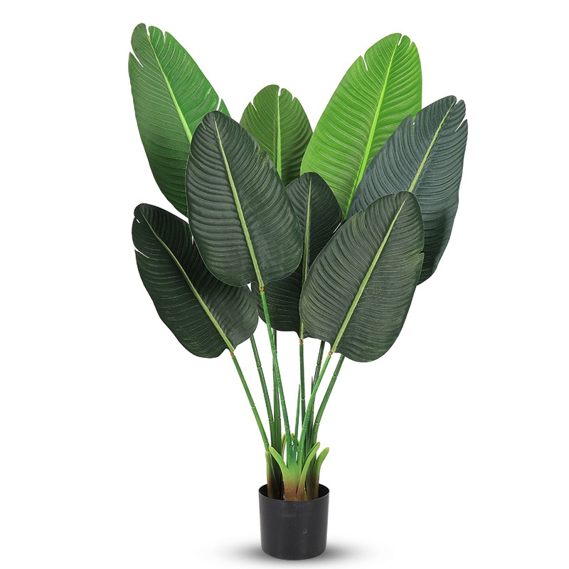 140cm Artificial Plant Decoration Areca Palm Tree Indoor and Outdoor Plants Plastic Potted Living Room Balcony Green Decoration