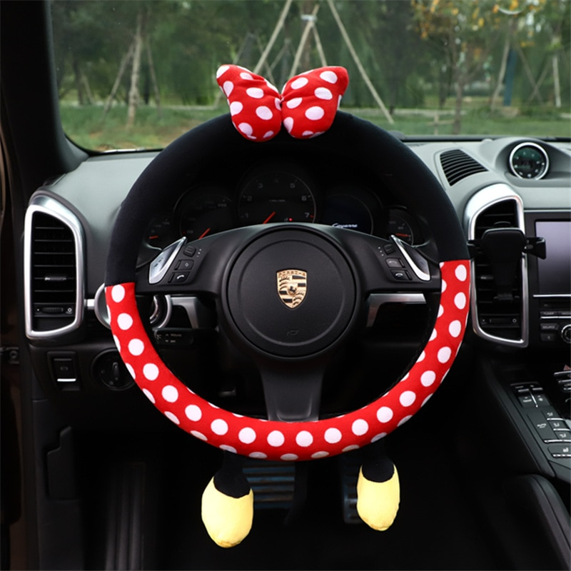 AliExpress - Cute Cartoon Steering Wheel Cover 38CM Universal Plush Car-styling Car Steering-Wheel Handle Covers Auto Decoration