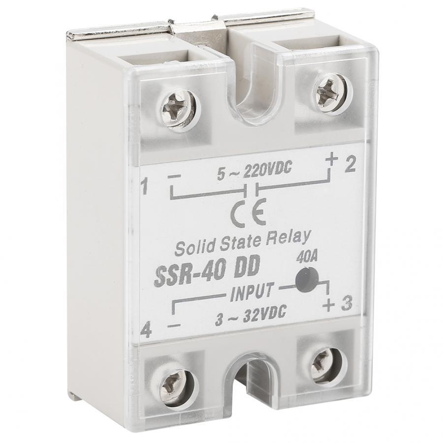 SSR-40 DD 40A 5-220VDC relé de estado sólido para proceso de automatización Industrial 40A