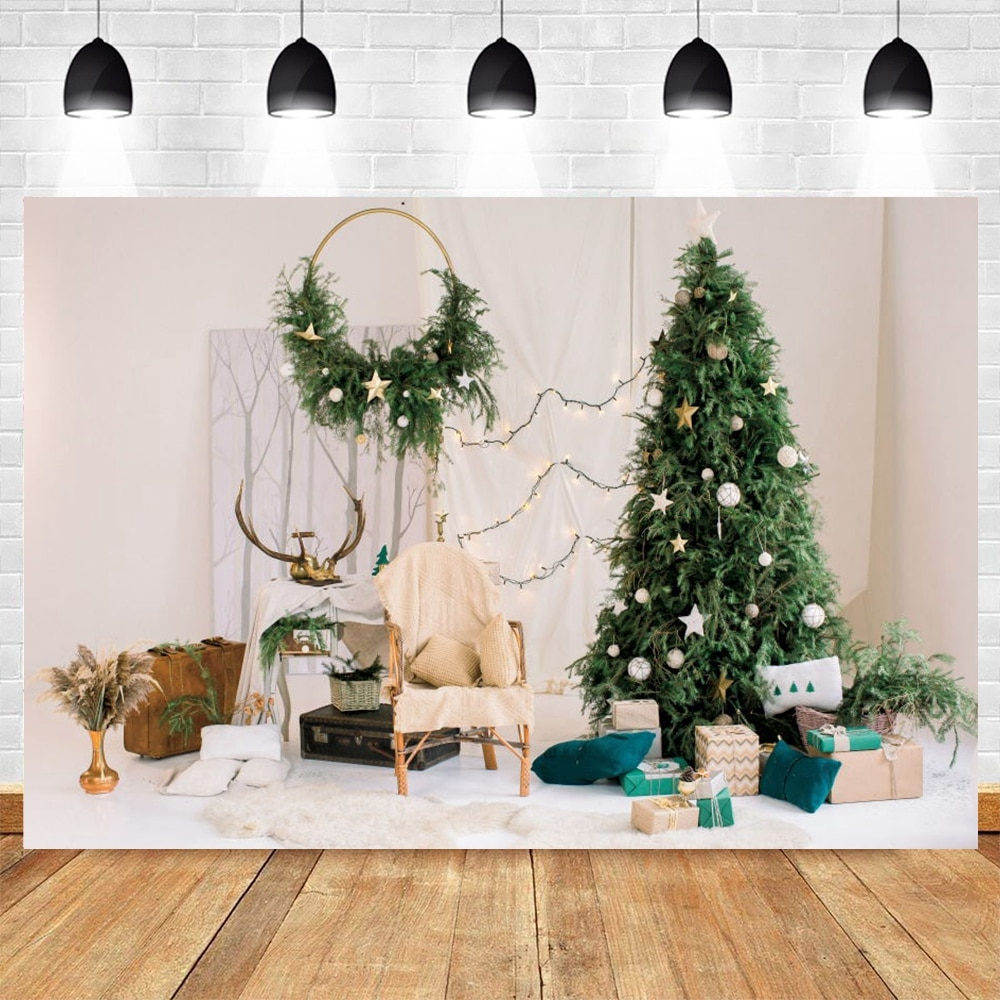 vintage wood board winter christmas tree branch photography backdrop vinyl photographic background for photo studio photophone Christmas Backdrop Tree Baby Room Interior Star Light Baby Photography Backdrops Vinyl Background For Photo Studio Photophone