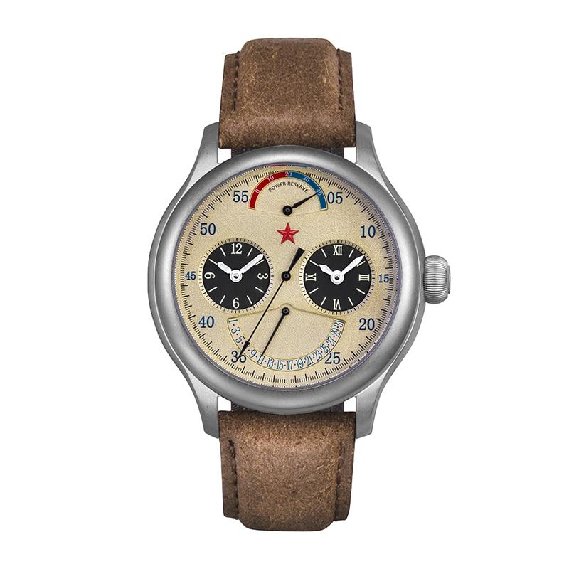 Genuino reloj de viaje Redstar Serie de viajes con cronógrafo movimiento ST2545 hombres y mujeres unisex doble horario reloj impermeable 6202G