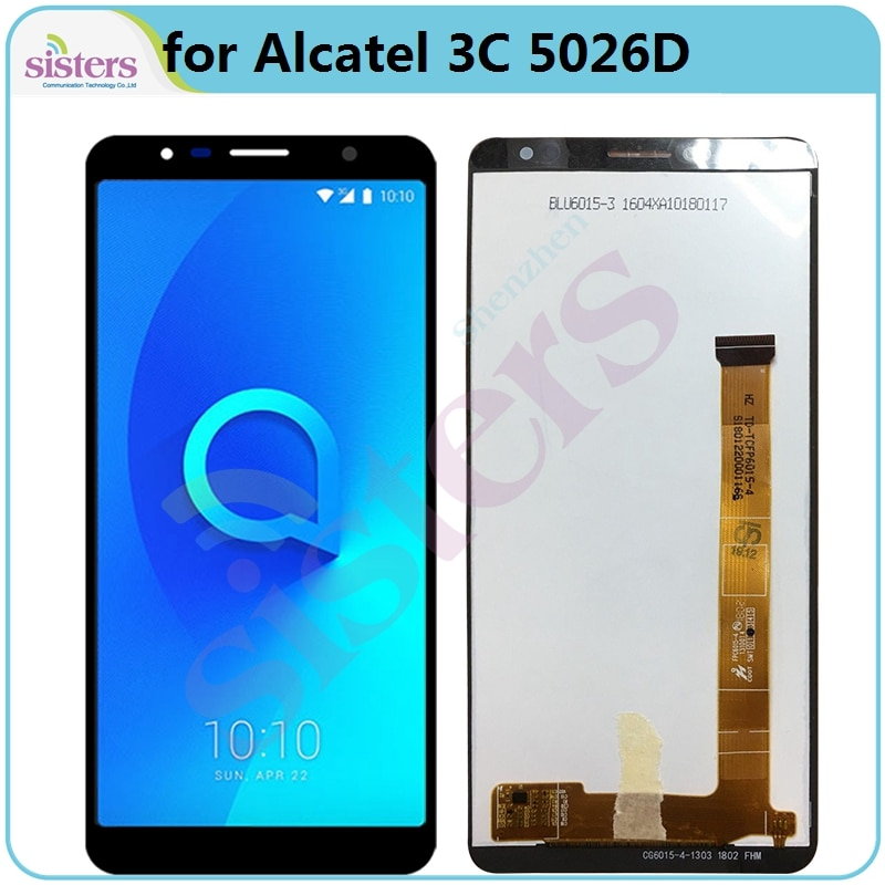 LCD Screen For Alcatel 3C 5026D 5026 OT5026 LCD Display with Touch Screen Digitizer Assembly Phone Parts Replacement Tested Top