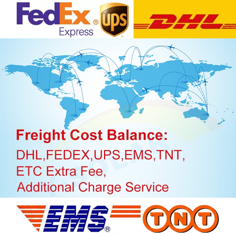 Y-Solar Freight Cost Balance,DHL,FedEx,UPS Etc. Remote Area Fee Shipment Servece.Extra Shipping Addictional Charge Link